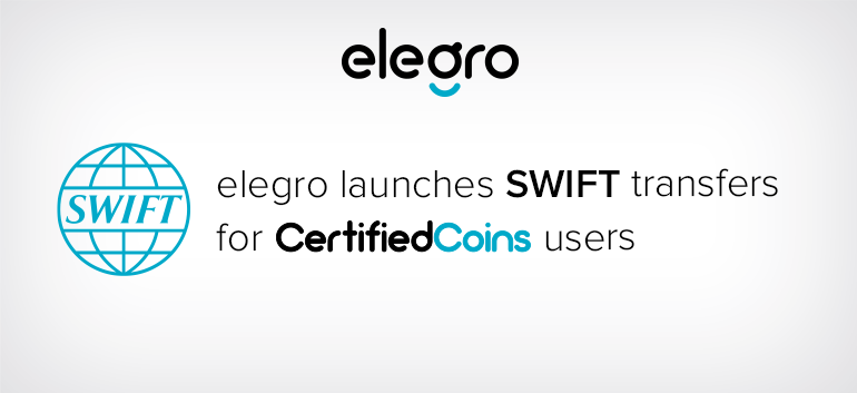 SWIFT transfers for Certified Coins users