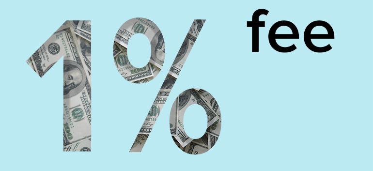 fund transfer services with 1% fee